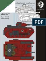 DevilDog Tank 40K PaperCraft