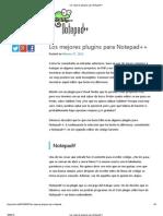 Los mejores plugins para Notepad  .pdf