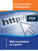 Web Translation as a Genre