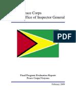 Peace Corps Guyana Final Program Evaluation Report IG0905E