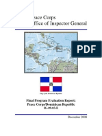 Peace Corps Dominican Republic Program Evaluation Report IG0903E
