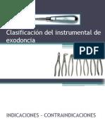 clasificacindelinstrumentaldeexodoncia