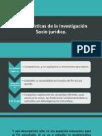Características de la Investigación Socio-jurídica