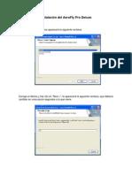 Manual de Instalacion Del Aerofly Pro Deluxe