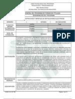 Programa de Formacion (Construcion y Montaje de Instalaciones Electricas)