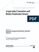 Water Side Corrosion and Boiler Feedwater Issues