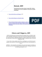 Treaties of Detroit Ottawa and Chippewa 1855