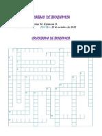 Crucigrama de Bioquimica