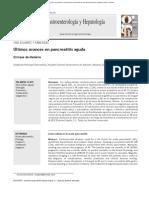 Últimos avances en pancreatitis aguda