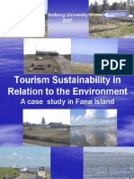 Tourism Sustainability in Relation to the Environment (A case study in Fanø Island)