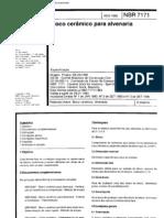 NBR 7171 - Bloco Ceramico Para Alvenaria