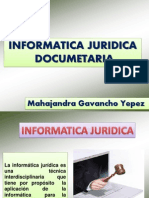 INFORMATICA JURIDICA DOCUMENTARIA