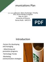 Communication+Plan+Week+5+Marketing