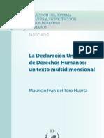 La Declaración Universal DE LOS DERECHOS HUMANOS TEXTO MULTIDIMENSIONAL