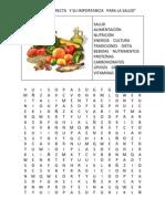 La Dieta Correcta y Su Importancia Para La Salud Sopa de Letras