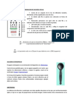 Carta de Snellen Para Determinacion de Agudeza Visual