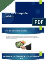 Tasa de transporte público