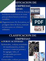 Clasificación de Empresas Und 1