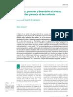 Divorce, pension alimentaire et niveau de vie des parents et des enfants. Une étude  à partir de cas-types