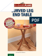 Curved-Leg End Table Plan