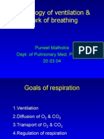 Ventilation Physiology and Work of Breathing