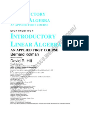 Linear Algebra Complete Book | System Of Linear Equations