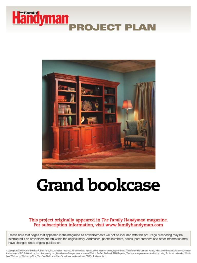 Grand Bookcase Fh06dja Cabinetry Door