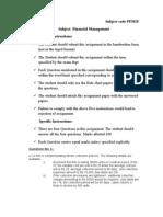 Financial Management PFM1F
