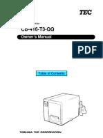 CB 416 T3 Manual