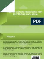 OBTENCIÓN DE HIDROGENO POR ELECTRÓLISIS DEL AGUA