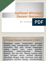 Aplikasi Wireless Sensor Network