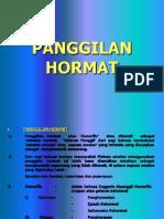 PANGGILAN HORMAT