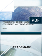 TRADEMARK, DOMAIN NAMES, COPYRIGHT, and TRADE SECRETS