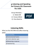 Teaching L&S Skills Principles and Factors