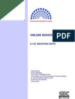 CIC Online Bidding Briefing Note