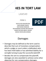 REMEDIES IN TORT LAW