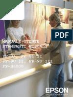 Epson SerieFP Manuale Operatore L