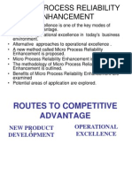 TOOL FOR  REDUCING  WASTE AND SYNCHRONIZING  PROCESSESMICRO PROCESS RELIABILITY ENHANCEMENT.ppt