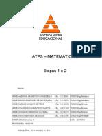 ATPS MATEMÁTICA  - ETAPA 1 e 2 2011