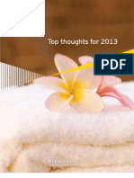 Hospitality Top Thoughts for 2013