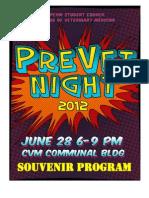 Souvenir Program PreVet Night June 28, 2012