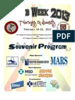 VetMed Week Souvenir Program February 18-22, 2013