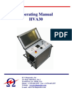 HVA30 Very Low Frequency Hipot Tester Operating Manual