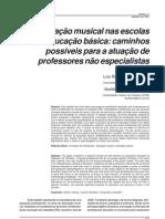 Educacao Musical Nas Escolas de Educacao Basica Caminhos Possiveis Para a Atuacao de Professores Nao Especialistas