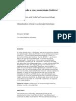 Globalização e macrossociologia histórica1