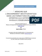 Memoire Encadrement Mars 2010