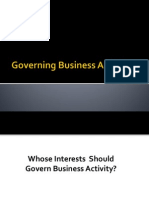 Governing Business Activity