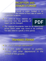 Interception and Depression Storage 2011