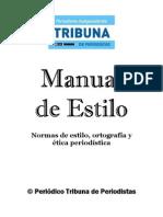 Manual de Estilo - Tribuna de Periodistas