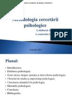 metodologia cercetarii în psihologie